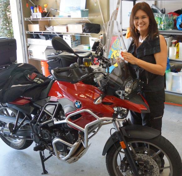 Monica & BMW F 700 GS